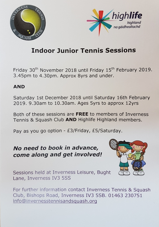 ITSC Indoor Tennis Sessions